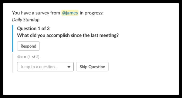 slack survey template daily standup