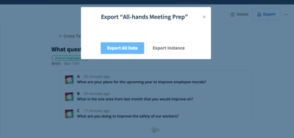 exporting polly results from poll details page