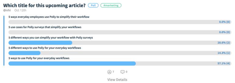 slack polly survey blog titles