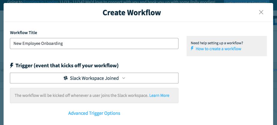 Employee Onboarding workflow