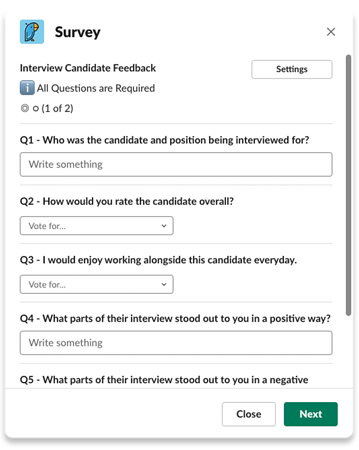 Interview candidate feedback