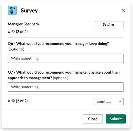 Manager feedback survey