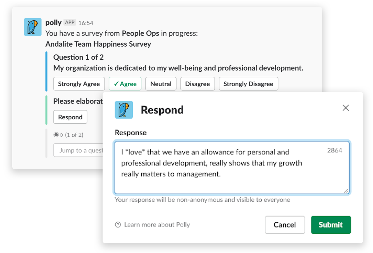 A native Slack experience without the context switch