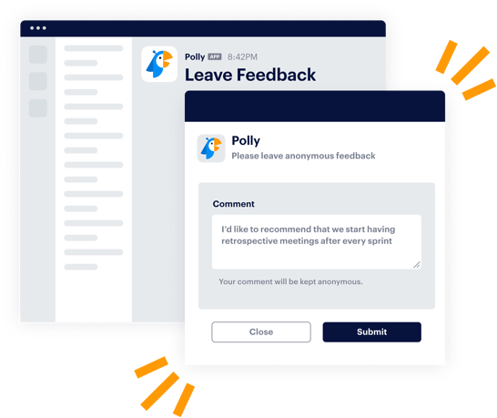 comment form to submit feedback makes anonymity clear