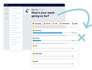 pulse check multiple choice questions with emoji