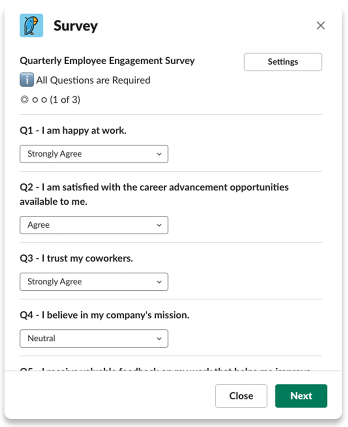 Quarterly employee engagement survey-1
