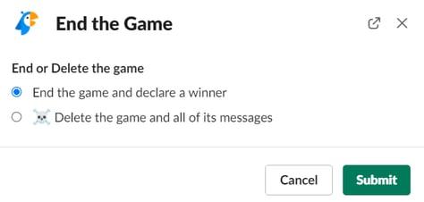 ending trivia game
