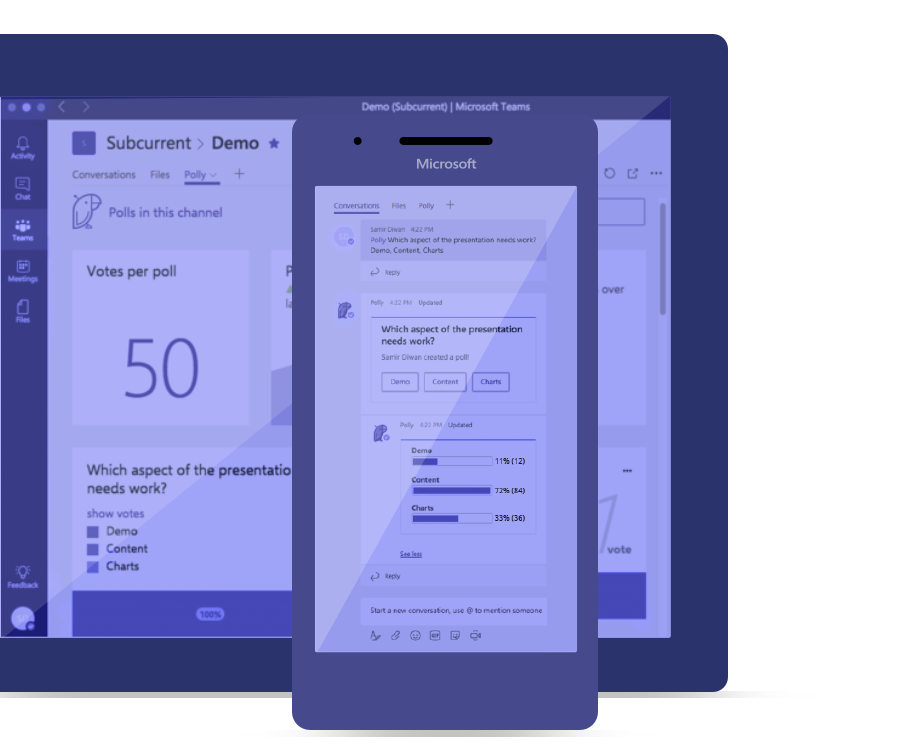 Polly for Microsoft Teams Mobile