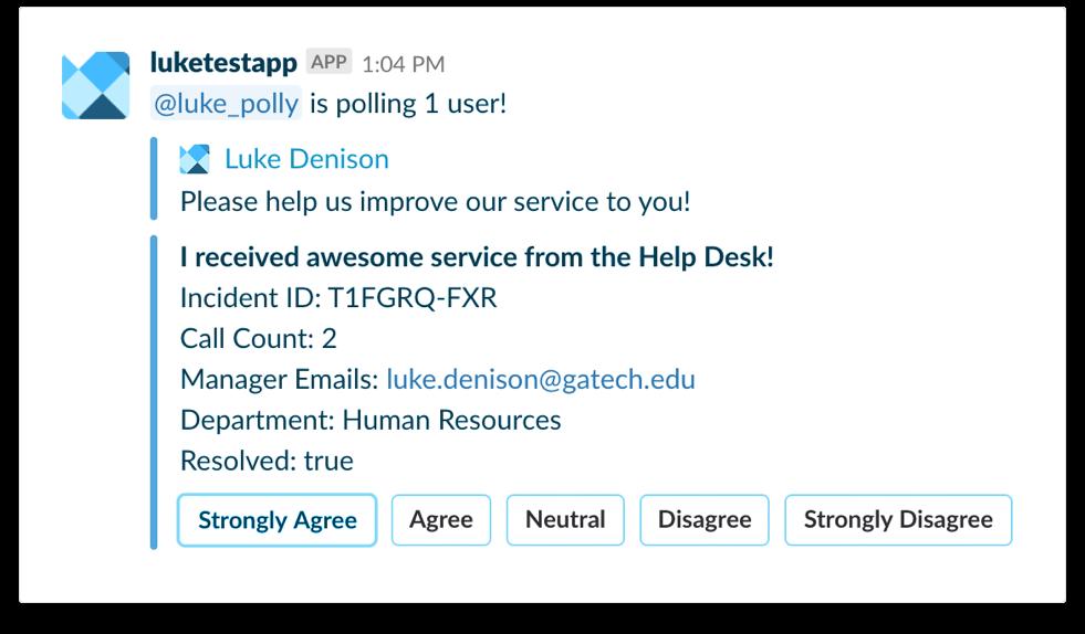 Service Desk Feedback